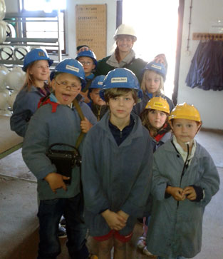 Besuch im Bergwerk